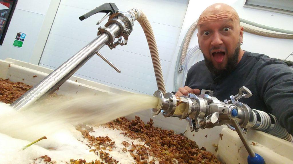Brad Making Wine