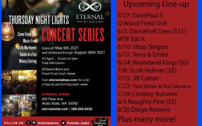 Thursday Night Lights lineup, open 7 days a week